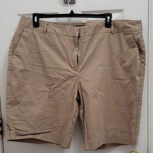 Khaki bermuda shorts plus size